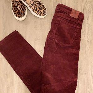 Maroon Ralph Lauren Corduroy Pants